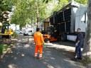Nuova ciclabile di viale Montecuccoli, l'allestimento del cantiere