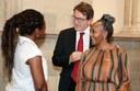 Il sindaco Gian Carlo Muzzarelli con Ndileka Mandela