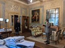 """Palazzo Comunale, in foto Michele Dell'Utri e Simone Francia in """"Un giorno di 150 anni fa"""""""