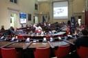 Un momento della seduta del Consiglio comunale di Modena dedicata a Mirella Freni