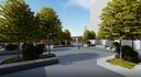 La futura piazza nel comparto ex Amcm