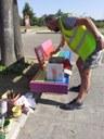 Un momento del lavoro dei volontari