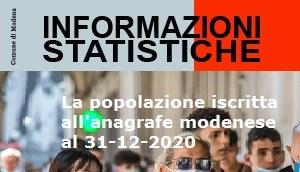 La popolazione iscritta all'anagrafe modenese al 31-12-2020